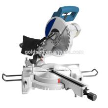 New Long Life Induktionsmotor Aluminium Holz Schneiden Cut Off Säge Maschine Elektrische Leistung 255mm Slide Compound Gehrungssäge