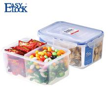 hot sale Easylock 2 compartment plastic lunch box