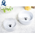 Claw Imprint Decals Weiße Keramik Pet Bowl