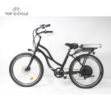 S2 vert puissance pas cher électrique plage cruiser vélo / vélo en stock à vendre
