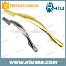 Poignées d'armoires en métal doré RDH-119