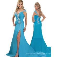 Pfau ein Schulter Festzug Kleid Partei Kleid Abendkleid mit Kristall Strasssteinen RO11-17