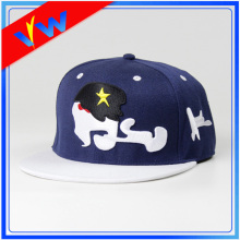 Personaliza el bordado 3D Blue Crown Flat Bill Cap