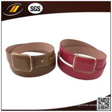 Soild Color Plastic Buckle Atacado Cheap Lady's PU Belt