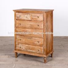 Antiguo mueble de madera maciza blanco acabado dormitorio Dresser
