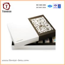 Nuevas cajas de regalo de encargo del papel de la cartulina del diseño