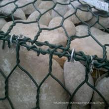 China Fábrica PVC revestido Gabião Hexagonal e Caixa Gabião