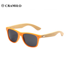 Óculos de sol de bambu marca Cramilo com logo15012
