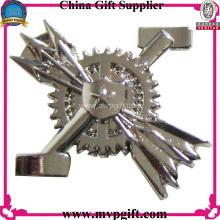 Metal Pin Badge with 3D Logo Engraving