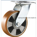 Тяжелый PU PU на алюминиевом поворотном колесе литейщика