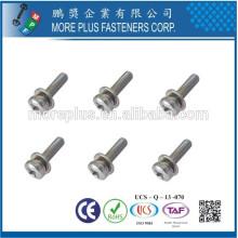 Hecho en Taiwán Phillips Pozi Torx Pan cabeza resistente a la manipulación Split Split arandelas ensambladas SEMS tornillos
