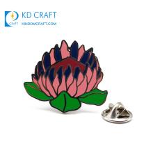 Free sample no minimum cheap custom metal novelty crafts silver plated hard enamel hong kong flower lotus lapel pin