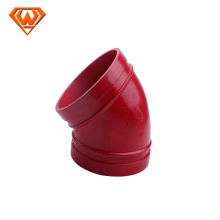 45 degree grooved elbow and pipe fitting