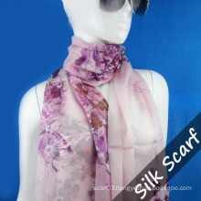 Screen Printing Silk Scarf for Lady