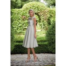 Wholesale Good Quality New Cheap O Neck Cap Sleeve Short A Line Bridesmaid Dresses LBS09