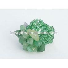 Anillos de piedra de viruta Aventurine verde