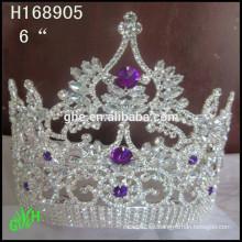 Coroa t shirt pérola de cristal bebê garota cabeça de coroa alta figuraant coroa tiara aniversário coroa