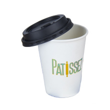 High quality Insulated paper cup with black lid