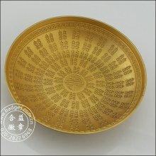 Tigela de ouro 3D para a festa do casamento, artesanato da decoração (GZHY-HD-080)