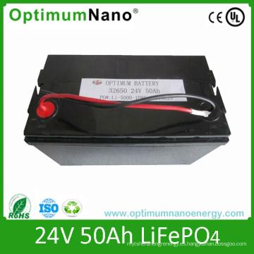 Venta caliente de paquetes de batería de 24V 50ah LiFePO4