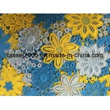 Multicolor Guipure Lace Fabric Factory