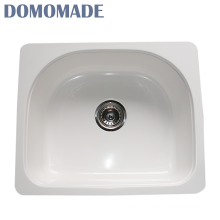 Custom design matt white / glossy white chemical resistant stone sink washing basin