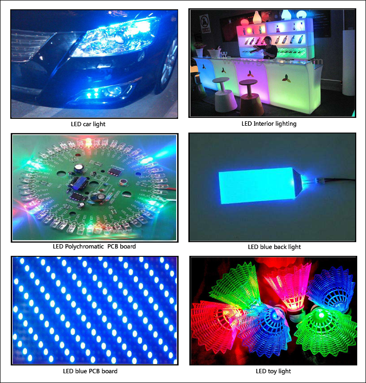 Blue SMD LED application