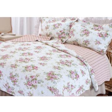 Garden Printed Polyester Home Textile Patchwork Quilt Summer Quilt (WSPQ-2016006)