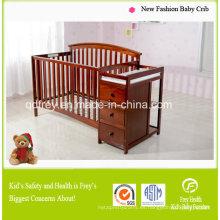 Hot Sale América estilo bebé cuna con mesa de cambio