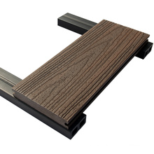 Fire-resistant Waterproof Recycled Environment Outdoor Wood Plastic Composite Decking Wholesale