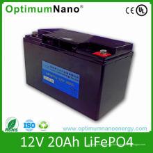 Batterie au lithium à cycle profond 12V 20ah pour les systèmes de contrôle multimédia