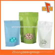 Eco amigável Doypack arroz papel zip lock bag para doces, snack embalagem com janela