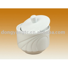 Récipient d'épices en porcelaine en gros direct usine avec couvercle