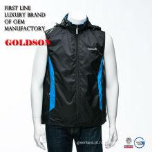 Top brand casual men spring jacket com capuz destacável e produção OEM