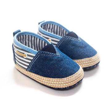Dark Denim Foreign Baby Shoes Soft Bottom Non Slip Casual Shoes