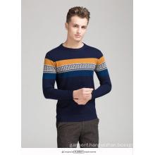 OEM Sweater Graphic Pattern 100% Cotton Men′s Sweater