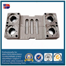 Graue Sandgestrahlte Eloxierte Aluminium CNC Fräsbearbeitung Feinmechanik