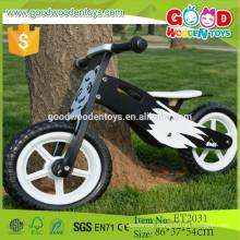 2015 New hot design black and white eva tire wholesale wooden bike