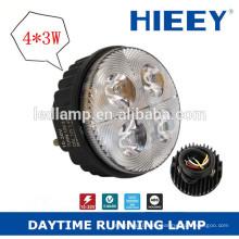 3inch Round LED de luz diurna para camión y remolque IP67 camión de cola de la lámpara impermeable luz antiniebla trasera