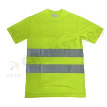 EN 471 aprobado color amarillo fluorescente camiseta de seguridad