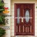 Porta de entrada principal em aço Villas com vidro
