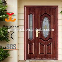 Puerta de entrada principal de Villas Steel con vidrio