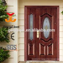 European style classic exterior metal door with glass