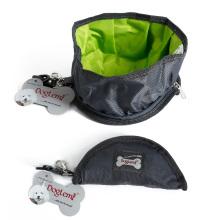 Tragbare Reise-Hundehaustierwasser-Schüssel Oxford zusammenklappbare Hundekatzenschüssel