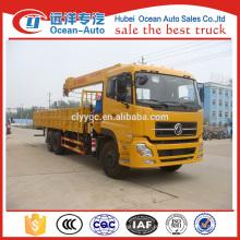 Dongfeng kinland 6x4 pesados 10 tonelada caminhão hidráulico guindaste à venda