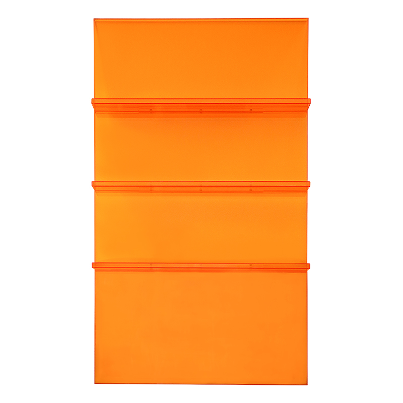 Acrylic Ladder Bookcase Orange