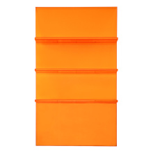 Modern Acrylic Ladder Bookcase Orange