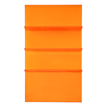 Modernes Acryl-Leiter-Bücherregal Orange
