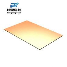 Подгоняйте лист металла модель золотой зеркало алюминий золото лист для строительства