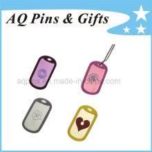 Tags de alumínio com vários logotipo e colar